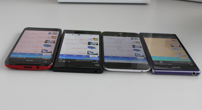 手机大色站_小米3 和魅族 mx3 的白色显示得最好,其余两部手机都出现偏色的现像